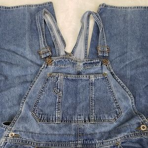 Old Navy Medium Denim Carpenter Overalls 36x31 Lg